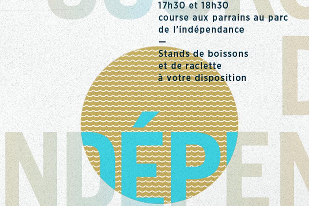 Graphisme Geneve graphic design graphique direction artistique affiche poster swissposter culture culturel promotion Morges course independence 2014