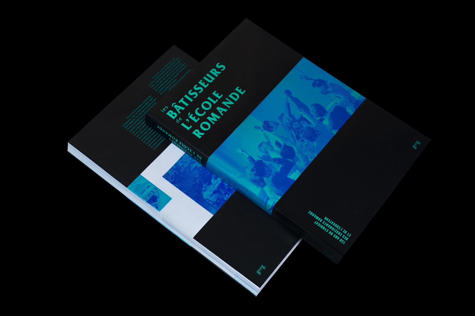 Graphisme Geneve graphic design graphique direction artistique  layaut mise en page édition livre book éducation suisse romande école enseignement éducateur éditions georg
