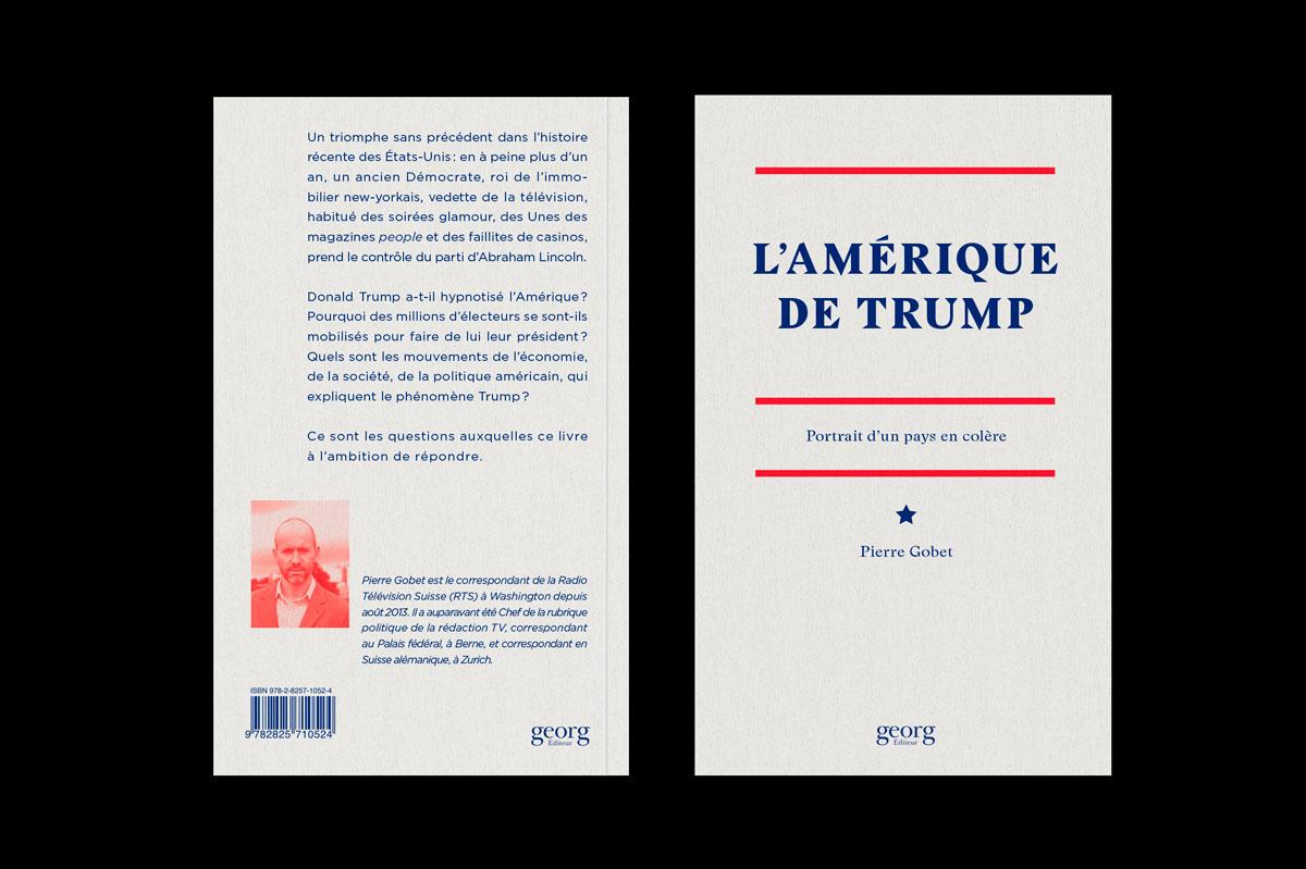 Graphisme Geneve graphic design graphique direction artistique loyaut mise en page édition nuits américaines donald trump couverture cover book livre  éditions georg