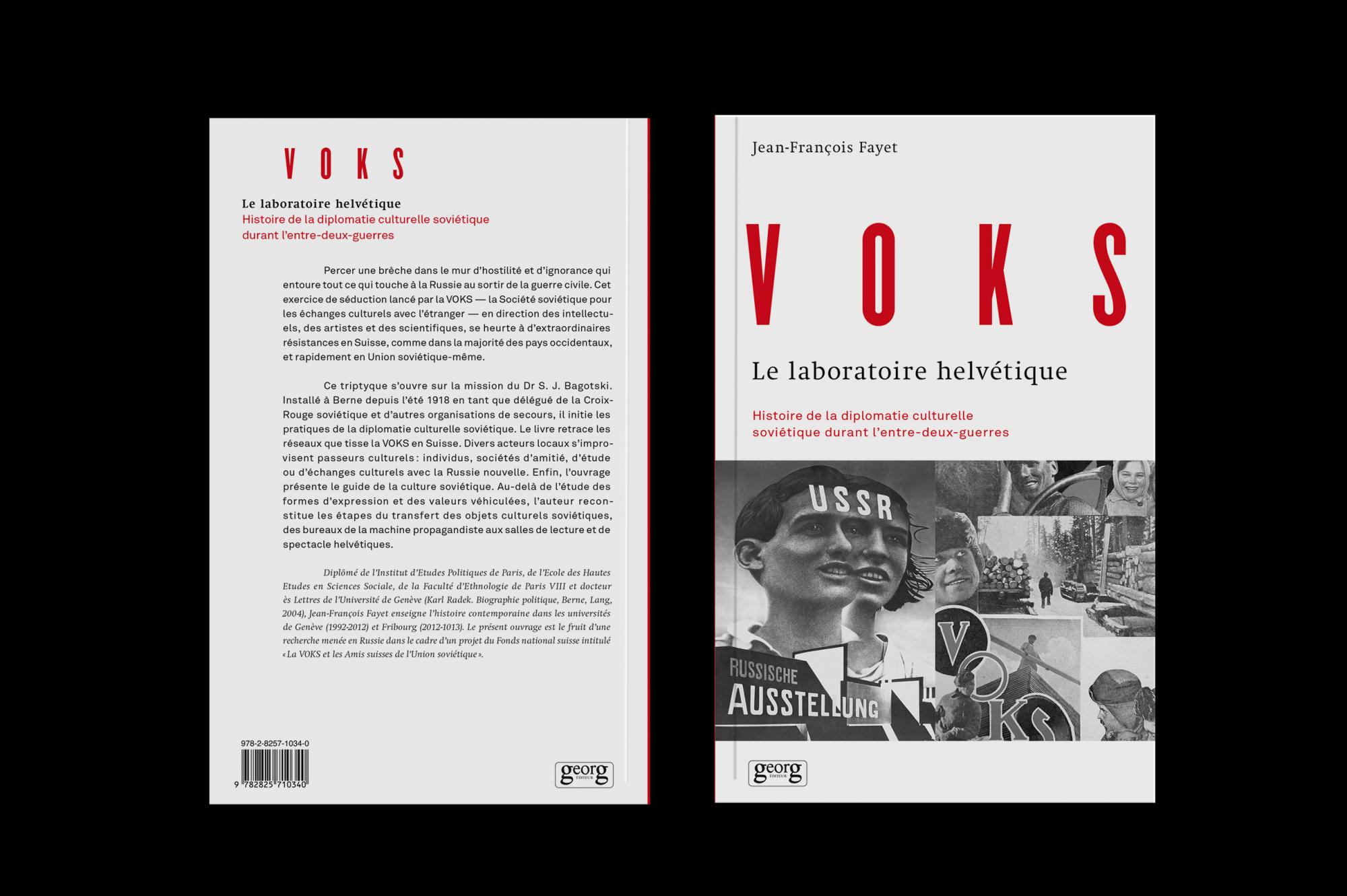 Graphisme Geneve graphic design graphique direction artistique layout mise en page édition   voks couverture cover book livre  éditions georg