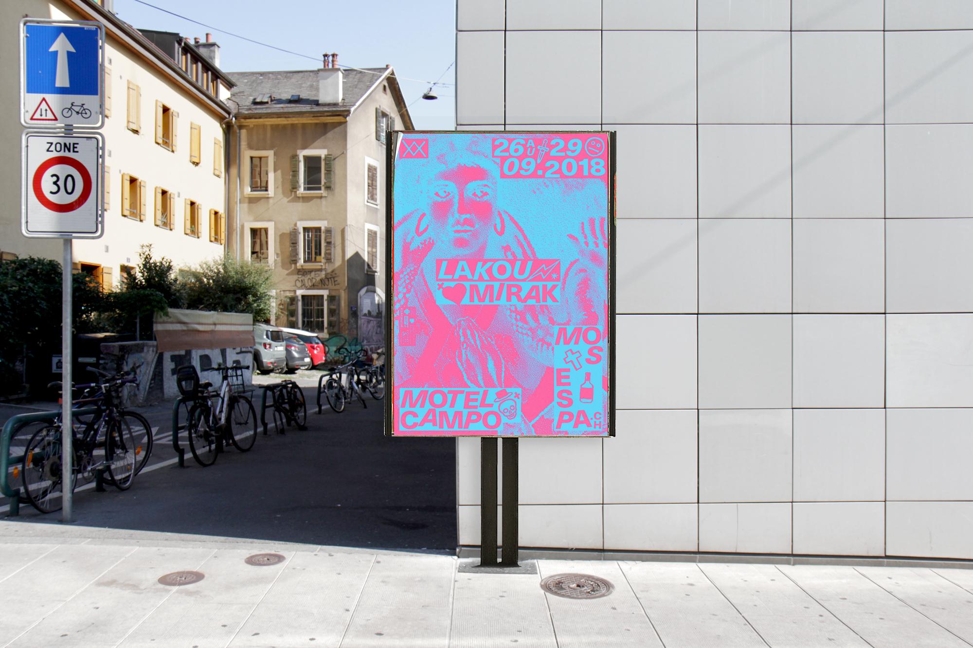 Graphisme graphic design graphique  affiche poster swissposter culture culturel promotion festival musique motel campo mos espa 2018 vaudou voodoo haiti
