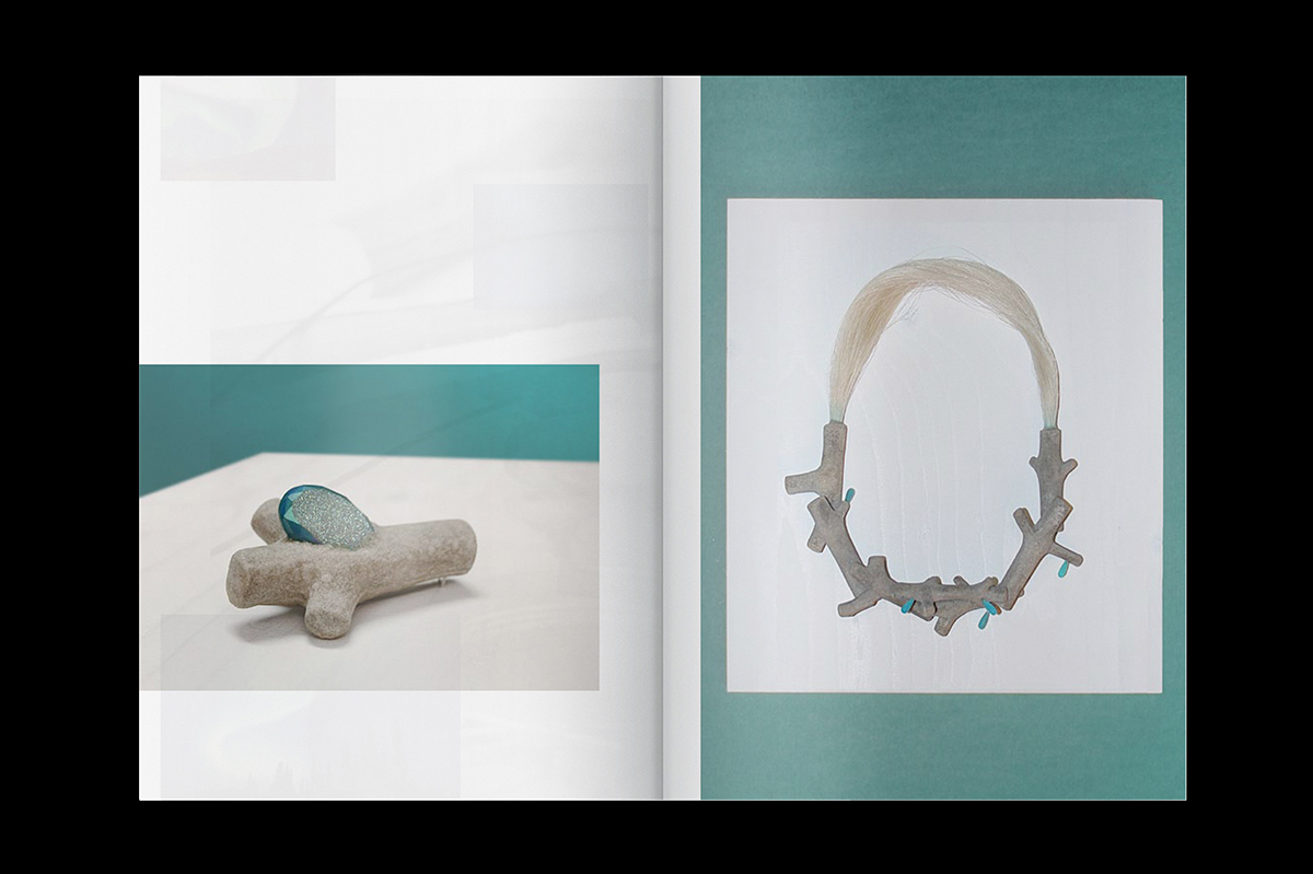 Graphisme Geneve graphic design graphique direction artistique layout mise en page édition look-book pia farrugia design bijou contemporain contemporary jewelry landscape paysage