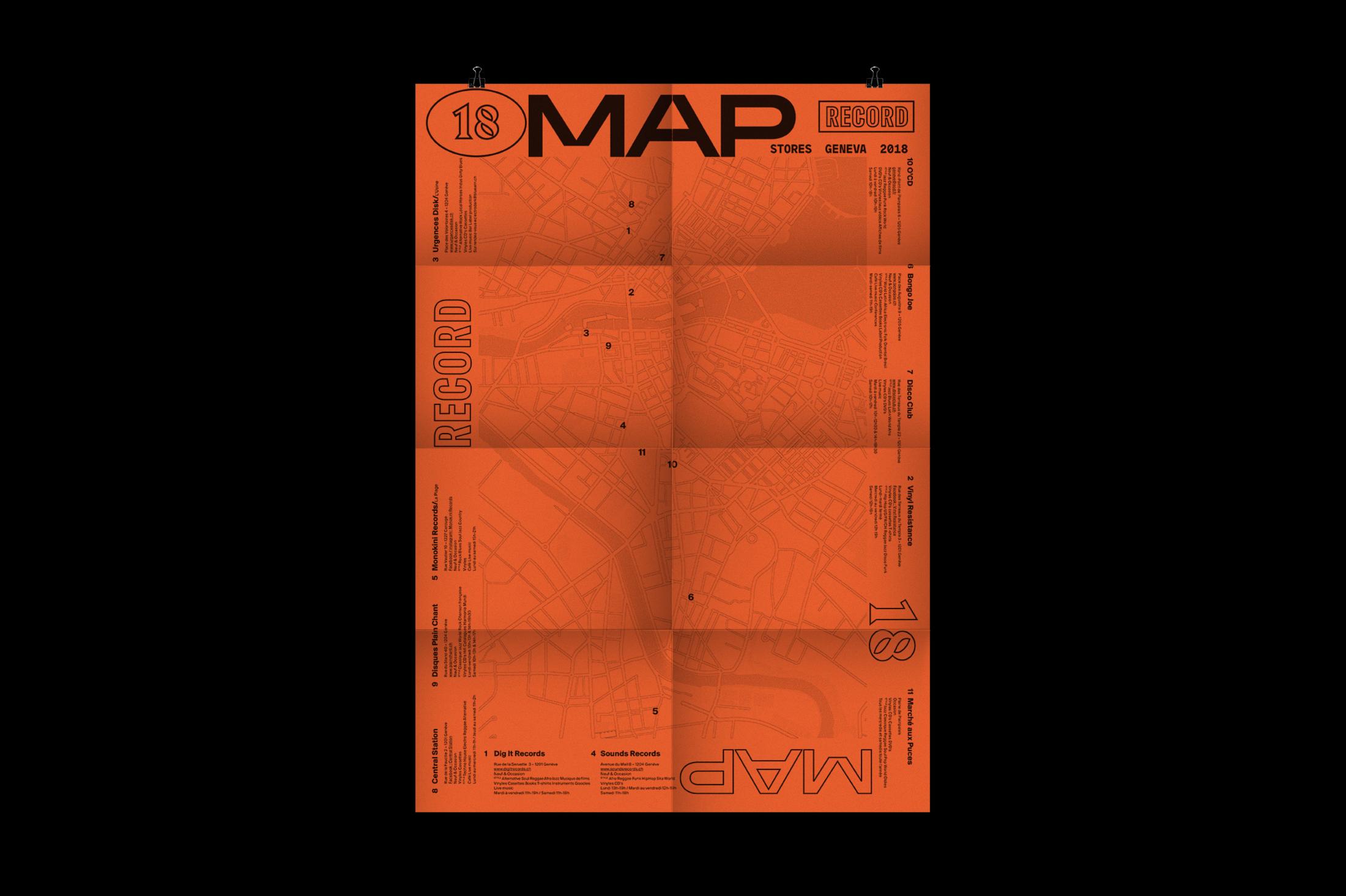 Graphisme graphic design graphique affiche poster swissposter culture culturel promotion  carte disquaires musique fête de la musique dépliant