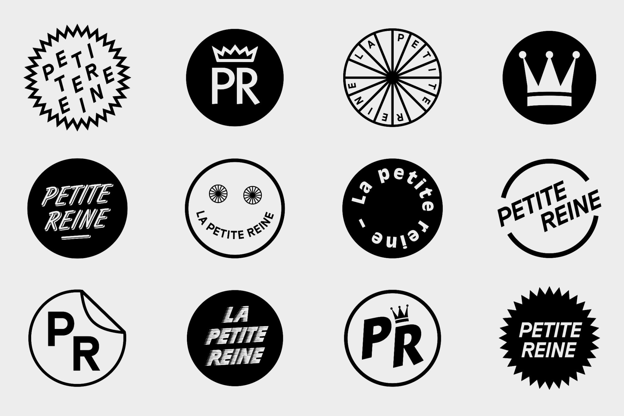 Graphisme Geneve graphic design graphique direction artistique logo identité visuelle identity branding brand  petite reine café bar cornavin gare