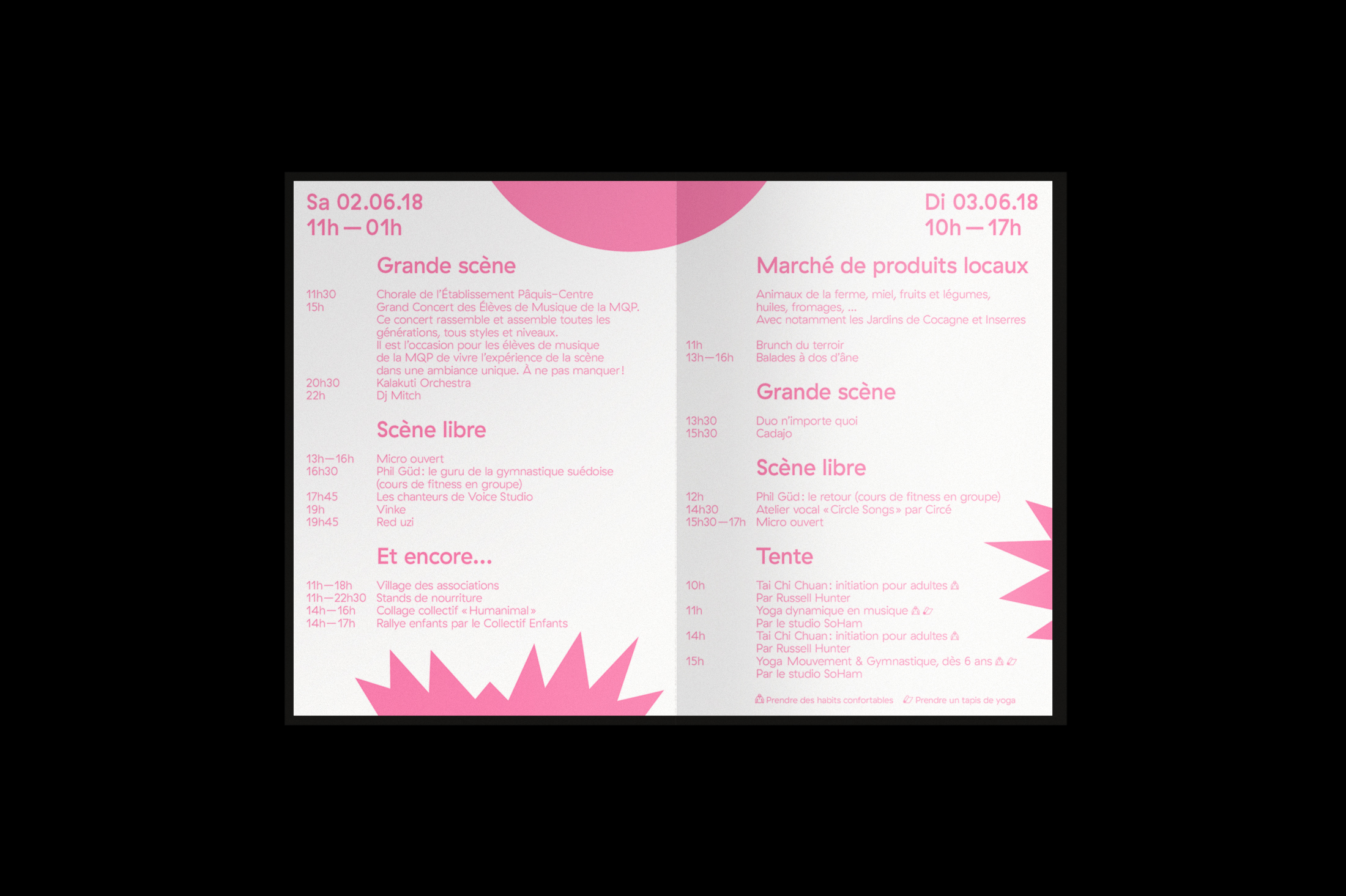 Graphisme graphic design graphique affiche poster swissposter culture culturel promotion fête du quartier des paquis  dépliant