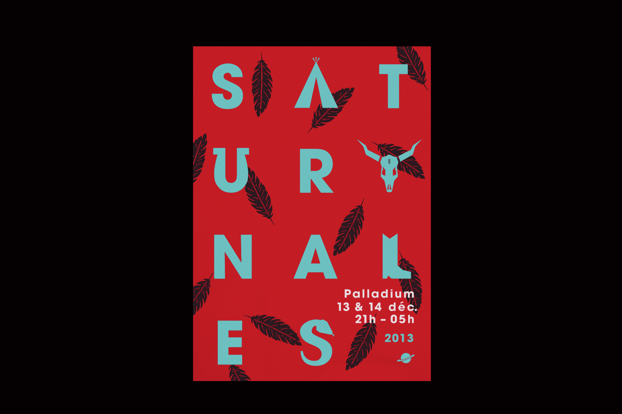 Graphisme Geneve graphic design graphique direction artistique affiche poster swissposter culture culturel promotion Festival Saturnales Palladium 2013