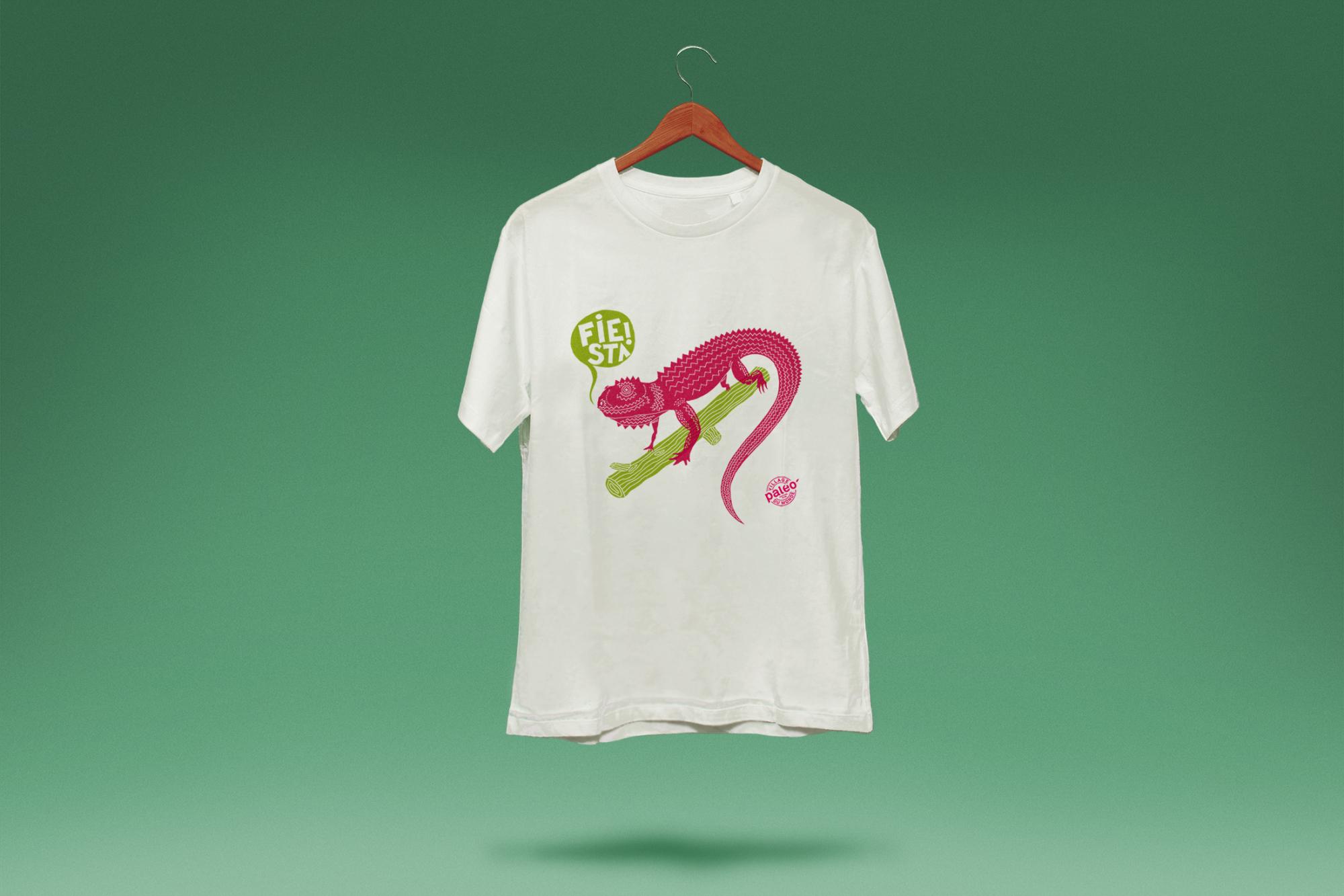 Graphisme Geneve graphic design graphique direction artistique paleo festival village du monde caraibes 2011 illustration merchandising  t-shirt